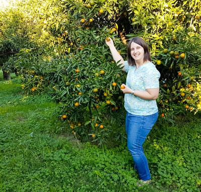 Christine bei den Clementinen