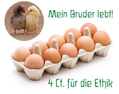 Bruderhahn-Eier